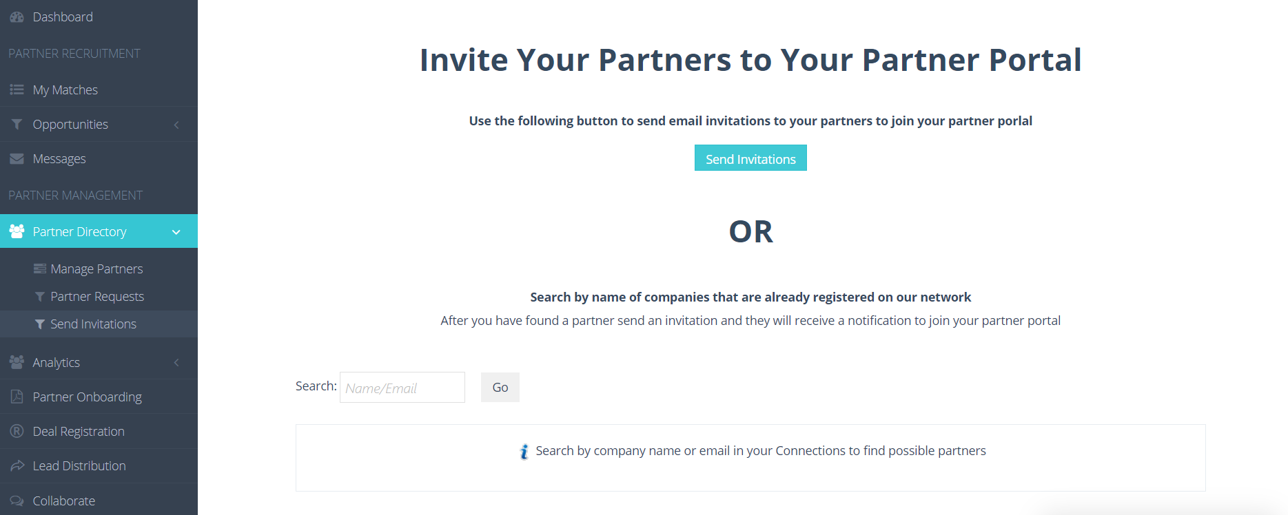 1. Send invitations to your channel partners to join your PRM account